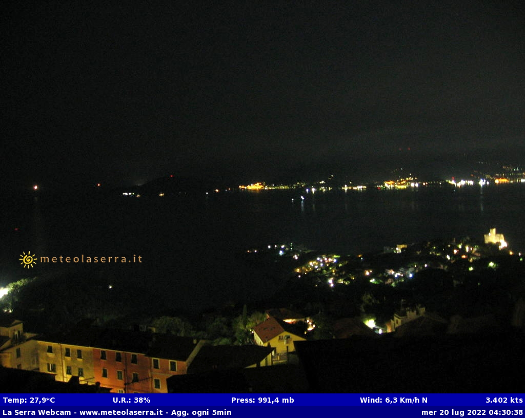 webcam la Serra di Lerici